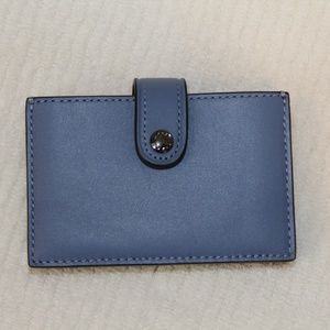 NWT Coach Leather Colorblock Accordian Card Case